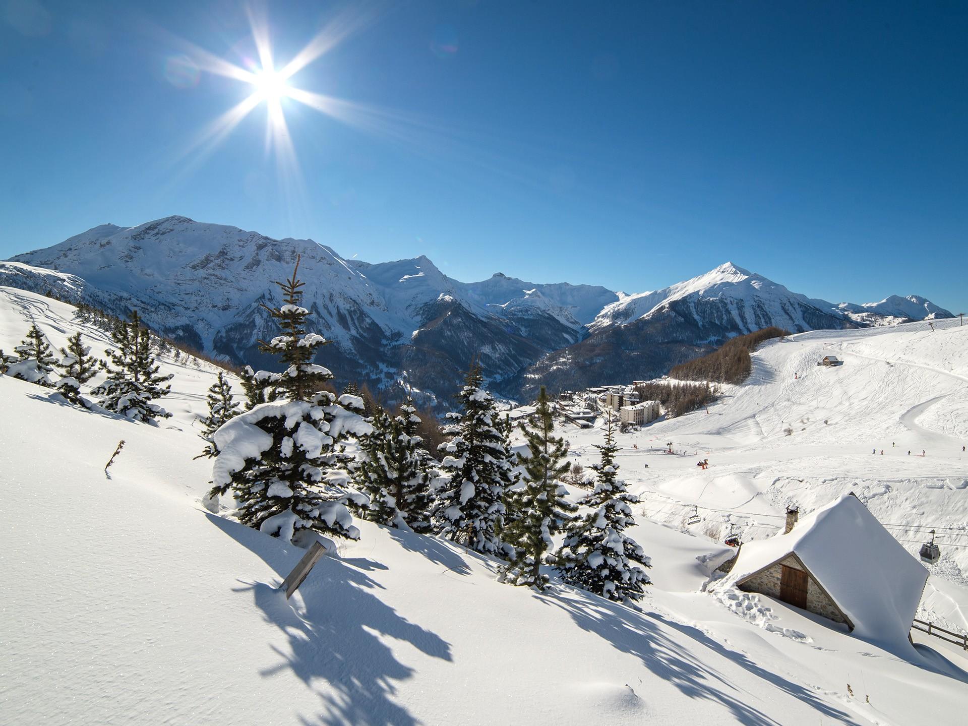 Orcières en hiver... (Photo : Gilles Baron)